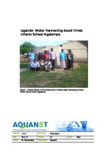 Uganda- Water harvesting Good Times Infants School Ngalamye