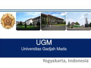 UGM. Universitas Gadjah Mada. Yogyakarta, Indonesia