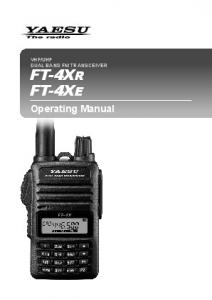 UHF DUAL BAND FM TRANSCEIVER FT-4XR FT-4XE
