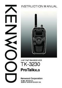 UHF FM TRANSCEIVER TK-3230 B (K)
