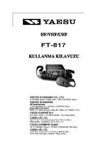 UHF KULLANMA KILAVUZU