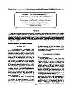 UHT PROCESSED CHICKPEA LIQUID MEAL: A NOVEL CONCEPT OF A CONVENIENT LIQUID FOOD