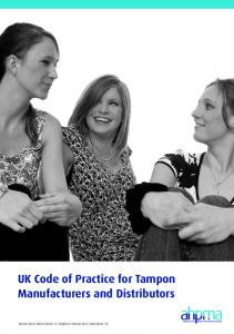 UK Code of Practice for Tampon Manufacturers and Distributors