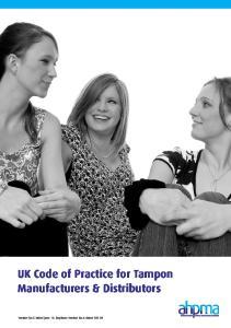 UK Code of Practice for Tampon Manufacturers & Distributors