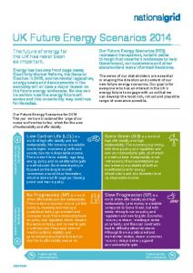 UK Future Energy Scenarios 2014