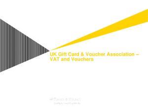 UK Gift Card & Voucher Association VAT and Vouchers