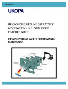 UK ONSHORE PIPELINE OPERATORS ASSOCIATION - INDUSTRY GOOD PRACTICE GUIDE