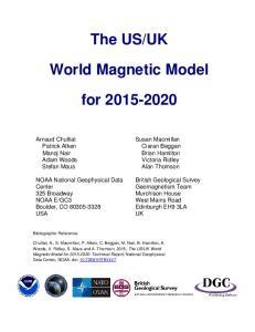 UK. World Magnetic Model. for