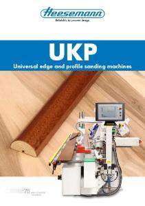 UKP Universal edge and profile sanding machines