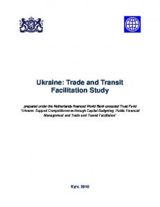 Ukraine: Trade and Transit Facilitation Study