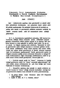 Çukurova'da Petrol Aramalarında Kullanılan Gravimetrik ve Sismik Usullerin Korrelasyonu ve Bunların Bazı Jeolojik Enterpretasyonu 1 ) Sulhi YÜNGÜL 2 )
