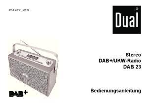UKW-Radio DAB 23 Bedienungsanleitung