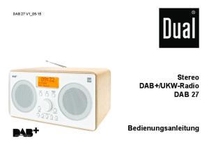 UKW-Radio DAB 27 Bedienungsanleitung
