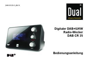 UKW Radio-Wecker DAB CR 25 Bedienungsanleitung