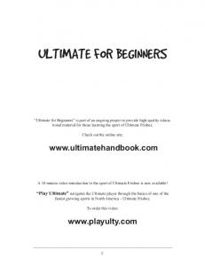 ULTIMATE FOR BEGINNERS