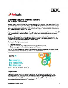 Ultimate Security with the IBM z13 IBM Redbooks Solution Guide