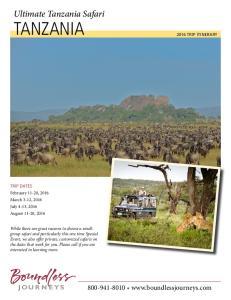 Ultimate Tanzania Safari TANZANIA