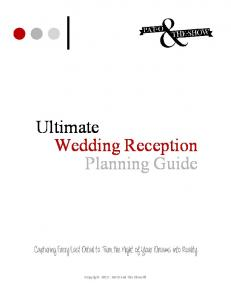 Ultimate Wedding Reception Planning Guide