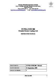 ULTRA-COM 300 Portable Powder Coating Unit