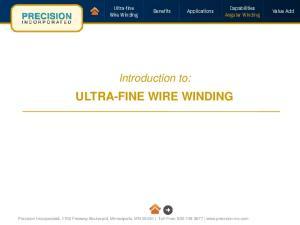 ULTRA-FINE WIRE WINDING