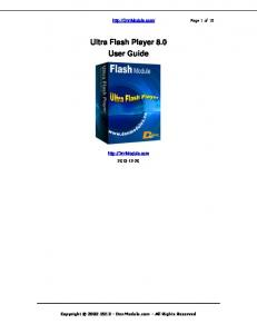 Ultra Flash Player 8.0 User Guide
