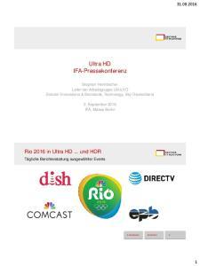 Ultra HD IFA-Pressekonferenz