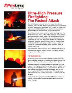 Ultra-High Pressure Firefighting: The Fastest Attack
