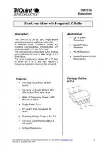 Ultra-Linear Mixer with Integrated LO Buffer