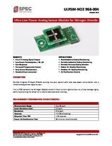 Ultra-Low Power Analog Sensor Module for Nitrogen Dioxide