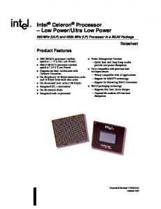 Ultra Low Power