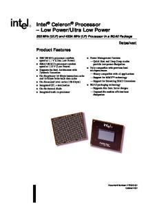 Ultra Low Power