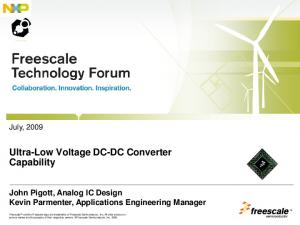 Ultra-Low Voltage DC-DC Converter Capability