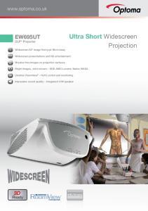 Ultra Short Widescreen Projection