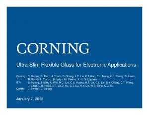 Ultra-Slim Flexible Glass for Electronic Applications