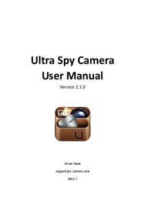 Ultra Spy Camera User Manual