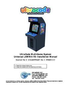 UltraCade Multi-Game System Universal JAMMA Kit Installation Manual
