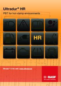 Ultradur HR PBT for hot-damp environments