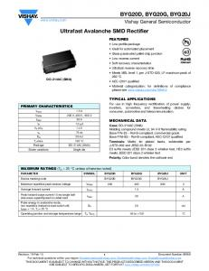 Ultrafast Avalanche SMD Rectifier