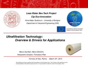 Ultrafiltration Technology: Overview & Drivers for Applications