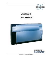 ultraflex III User Manual