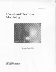 Ultrashort-Pulse Machining