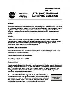 ULTRASONIC TESTING OF AEROSPACE MATERIALS