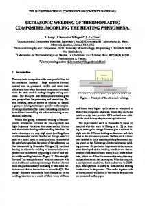 ULTRASONIC WELDING OF THERMOPLASTIC COMPOSITES. MODELING THE HEATING PHENOMENA