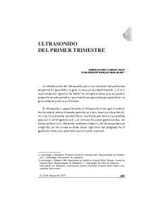 ULTRASONIDO DEL PRIMER TRIMESTRE