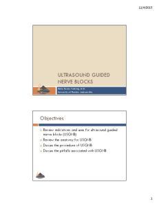 ULTRASOUND GUIDED NERVE BLOCKS
