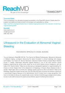 Ultrasound in the Evaluation of Abnormal Vaginal Bleeding