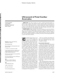 Ultrasound of Fetal Cardiac Anomalies
