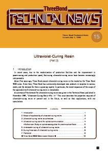 Ultraviolet-Curing Resin