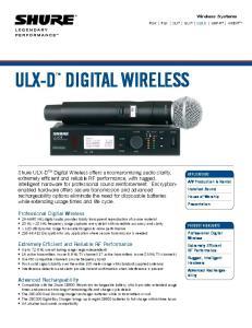 ULX-D DIGITAL WIRELESS