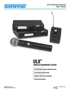ULX Wireless System User Guide